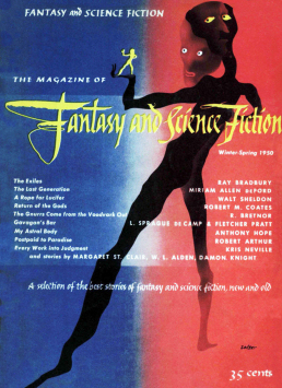 Figure 4 - F&SF Issue 2 Cover by George Salter