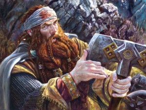 "Matt Stewart ""Forty-Two"" (Gimli) Private commission, 2013. Oil on panel, 18""x 24"""