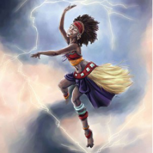 Asni's Art Blog: Orixas of Fire, Storm and Thunder