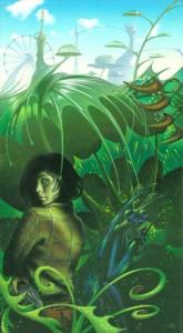 "Mark Harrison ""Diurturnities Dawn"" Cover, Bk 3 Alan Dean Foster series, Ballantine Del Rey, 2001. Acrylic on board, c. 20"" x 11"""