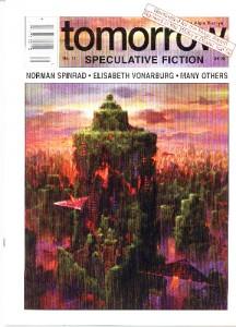 "Paul Lehr ""Abandoned City"" Tomorrow magazine cover, issue #11, Oct. 1994. Oil and acrylic on masonite, 28"" x 22.5"""