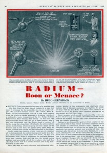 Hugo Gernsback was one of those who sought to bring the truth about radium to the public eye.  Courtesy Modern Mechanix (1932).