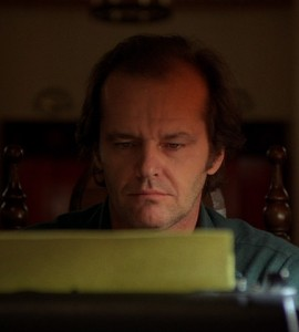 Jack on the typewriter from Stephen King's The Shining.