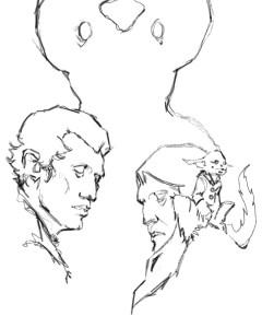 Siskin and Valderan line drawing