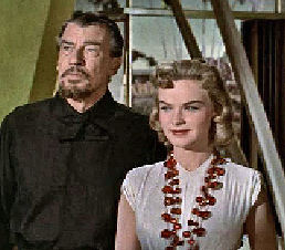 Figure 2 - Altaira (Anne Francis) and Morbius (Walter Pidgeon)