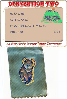 Figure 2 - Denvention 1981 nametag