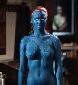 Figure 3 – Jennifer Lawrence as Mystique