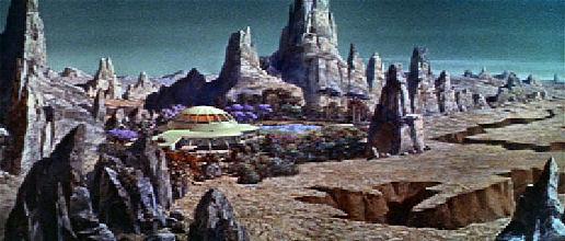Figure 3 - Morbius's home matte painting