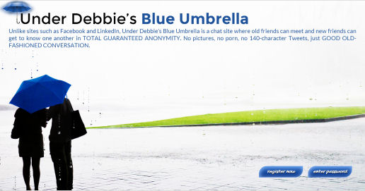 Figure 5 - Under Debbie's Blue Umbrella login screen