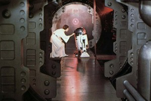 R2-D2 saving the galaxy.