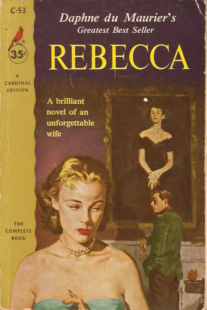 1960 Cardinal edition, emphasising Rebecca's anticipation of Hitchcock's Vertigo (1958)