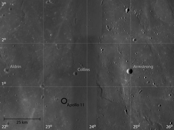Apollo 11 Landing Site by SMART-1