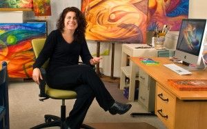 Rosana Azar in her studio