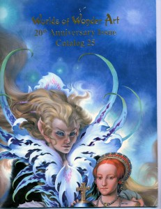 20th Anniversary issue, Catalog #25 (2009) Cover art by Steve Hickman, with 175 artworks by 23 artists, 40 pp.