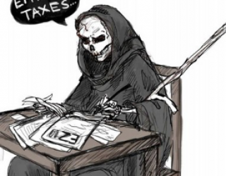 Asni's Art Blog: Death and Taxes