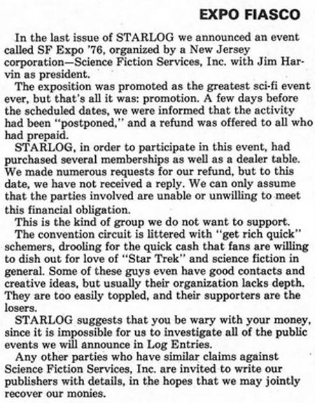 From Starlog magazine, Issue #2, November 1976.