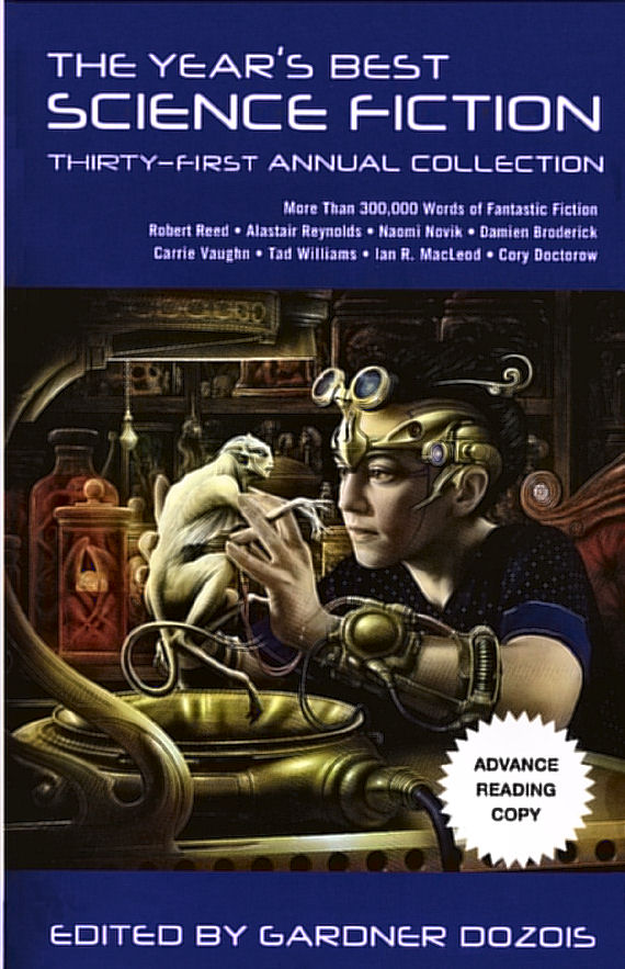 Figure 2 - Year's Best 2013 edited by Gardner Dozois cover by Jim Burns