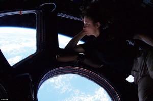 NASA astronaut Tracy Caldwell Dyson ISS