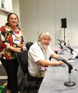 Jim Burns and his interviewer, yours truly, Jane Frank - still smiling after 1.5 hrs!