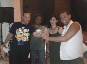De izquierda a derecha Jesús Minsal, Leonardo Gala, Sheila Padrón y Eric Flores