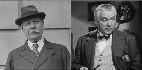 Figure 3 - Arthur Conan Doyle and Nigel Bruce