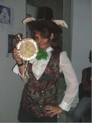 Leonor Hernández, ganadora del disfraz más popular