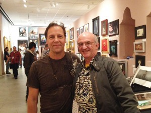 Steve Youll and Mark Harrison pause for a photo in the main art show