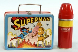 1954 Superman metal lunchbox, #1 most rare, the 'holy grail' of lunchboxes