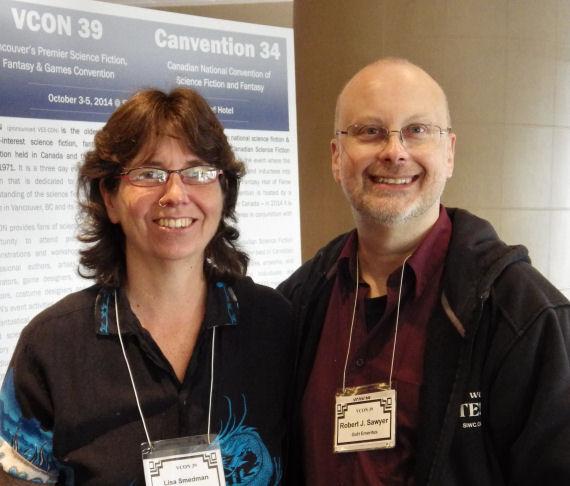 Figure 11 - Lisa Smedman and Robert J. Sawyer
