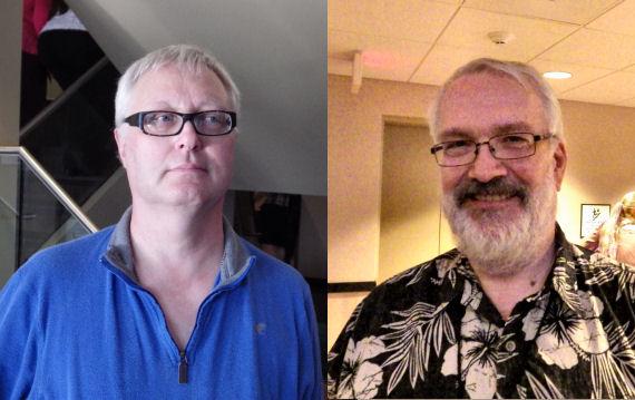 Figure 4 - Garth Spencer and Dr. Robert Runté