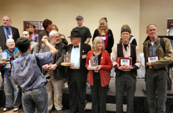 Figure 8 – Some of the Aurora winners and presenters