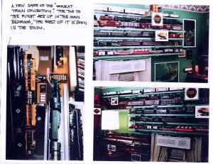 A couple of photos of Paul's model train collection -