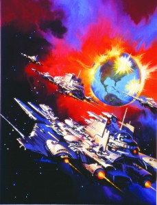 Paul Alxander's cover for William R. Forstchen's  Wing Commander