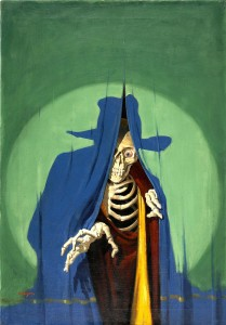 """""""The Creeping Death"""" by George Rozem, The Shadow Magazine pulp cover, January 15, 1933. Oil on canvas. sold for $47,800, Heritage auction Oct 2008"""