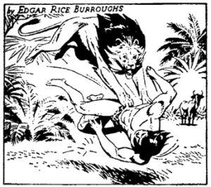 Figure 2 - Russ Manning Tarzan daily panel 1967