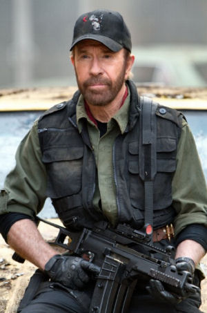 Figure 3 - Chuck Norris in Expendables 2