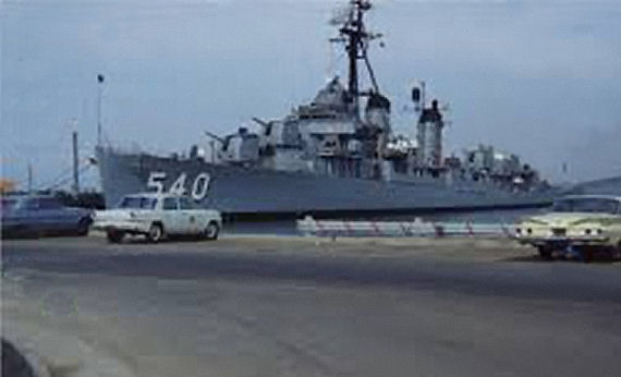 Figure 3 - USS Twining at Treasure Island during 1960s