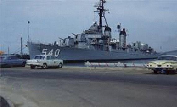 Figure 3 - USS Twining at Treasure Island during 1960s