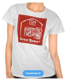 Figure 4 - Sushi Barn T-Shirt (women's) from Zazzle