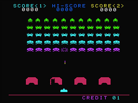 Figure 7 - Space Invaders screen