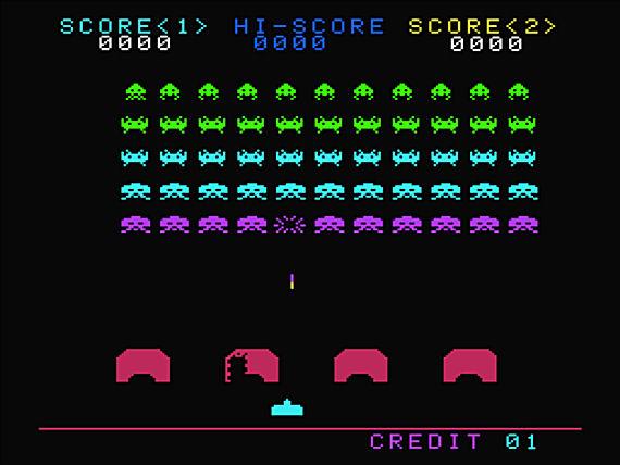 Figure 7 - Space Invaders screen