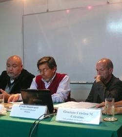Mesa de ciencia ficción: Erwin Snauwaert, Iván Rodrigo Mendizábal y David Contreras.