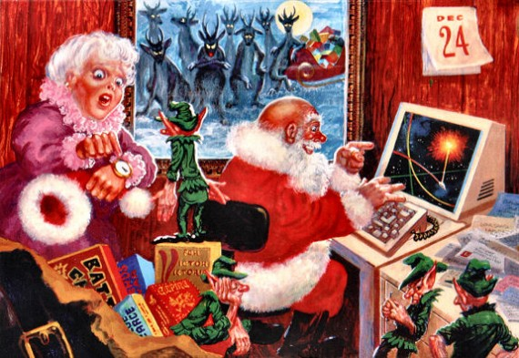 Figure 5 - Kelly Freas - Santa, You're Late