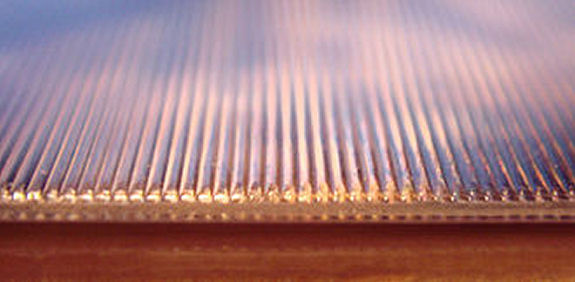 Figure 8 - Close-up of a lenticular print surface (from Wikipedia)