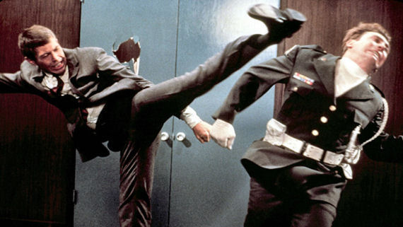 Figure 4 - Flint excercises karate kick