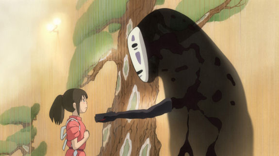 Figure 8 - Spirited Away - Chihiro and No-Face
