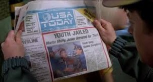 back to the future newspaper