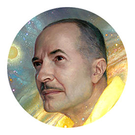 Figure 1 - Portrait of Robert A, Heinlein by Donato Giancolo
