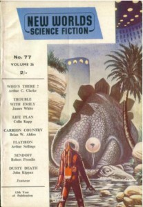 New World Science Fiction Magazine cover issue no 77 Nov 1958