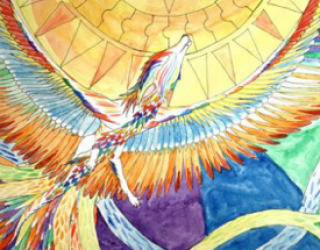 Asni's Art Blog: Simurgh